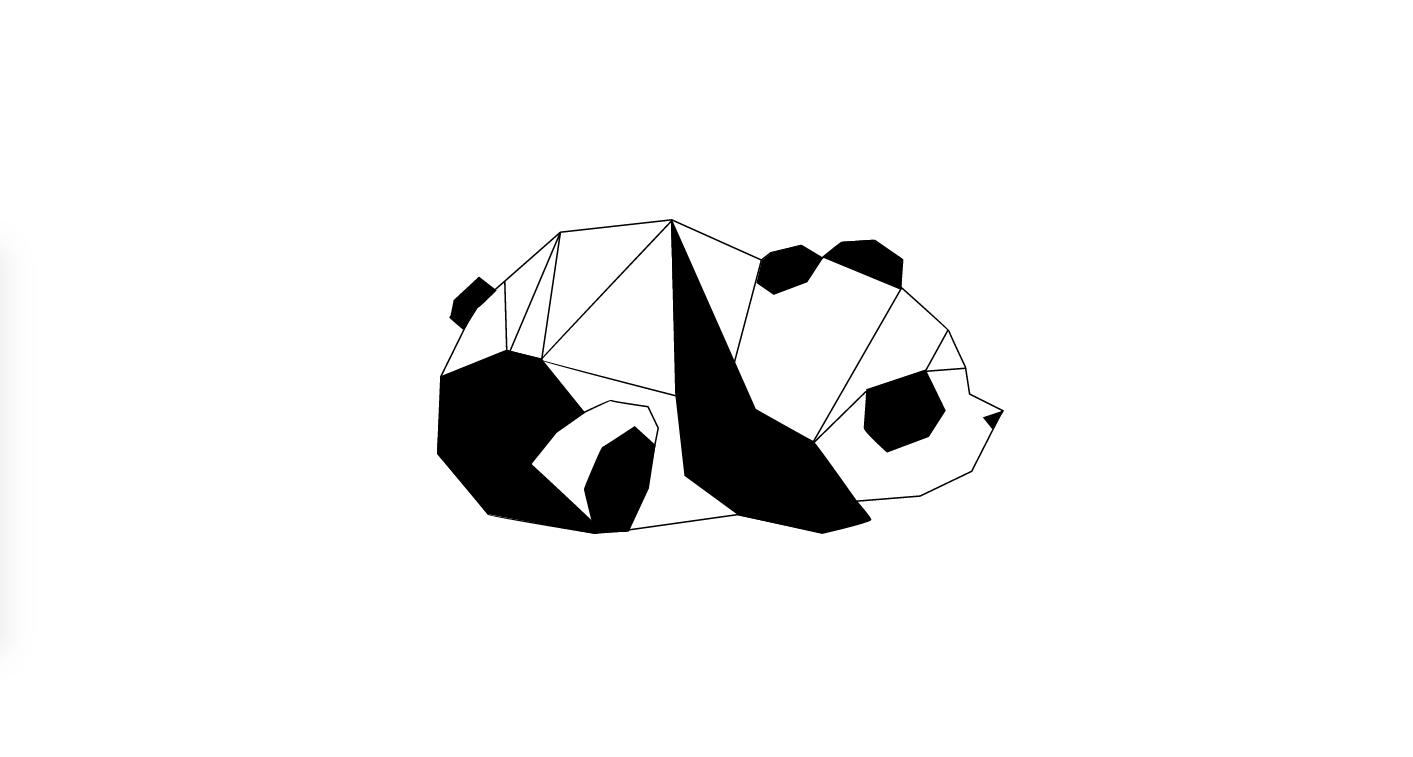 Geometric Vector Panda Animal SVG | Vector SVG Animals
